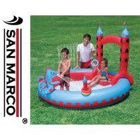 Castello Gonfiabile Per Bambini Con Drago E Giochi D Acqua