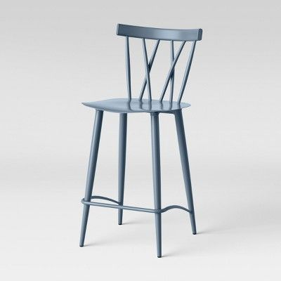 Amazing Set Of 2 Becket Metal X Back Counter Stool Light Blue Gmtry Best Dining Table And Chair Ideas Images Gmtryco