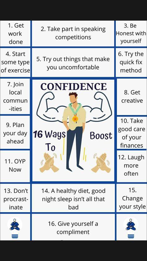 Confidence Boosting Ways