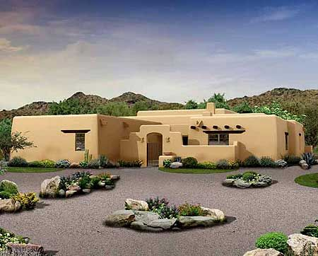 plan 81394w great covered patio home plan house patios and adobe house - South West Adobe Home Designs