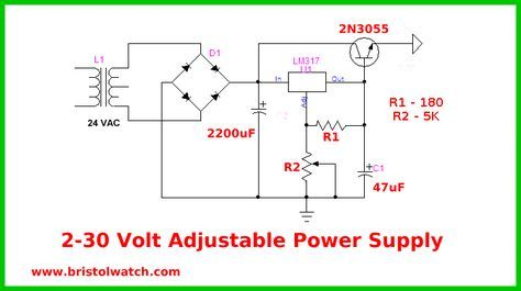 Lm317 Power Variable Supply With Images Power Supply Circuit