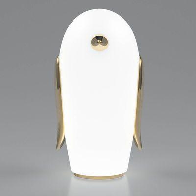 Noot Noot Pingouin Tischleuchte Vergoldete Keramik Glas