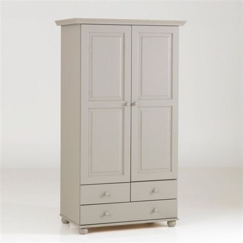 Armoire pin massif, 2 portes penderie, 3 tiroirs, Harold La Redoute Interieurs