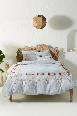 Vineet Bahl Embroidered Romula Duvet Cover Bed Linens Luxury Bed Linen Design Bedding Inspiration