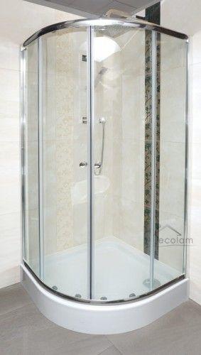 Duschkabine Dusche Transparentes Glas 80x80 Cm R55 185 Cm Bronx