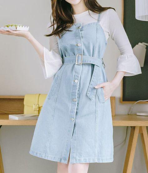 Summer Style Overalls Denim Dress - Dresses for Women
