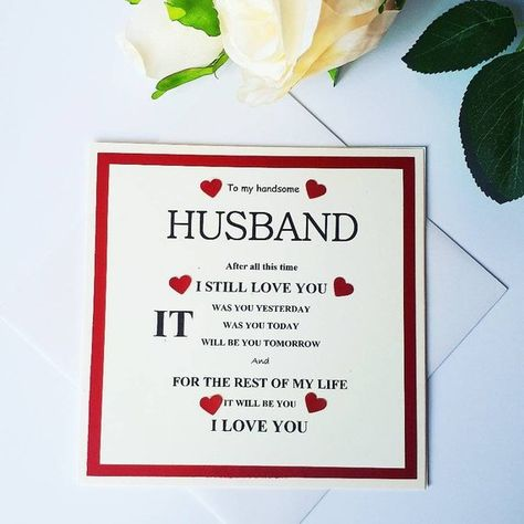 Anniversary card for husband, Valentine's Card for husband, wife card, girlfriend card, boyfriend card, fiance card  fiancee card,