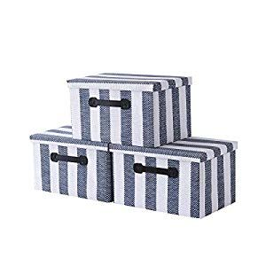 Storage Bins Decorative Storage Boxes Organizer Bins With Lids Handles For Home Fabric Bins Memory Box With Lid Empty Gift Basket For Toys 14 5 X 10 X 8 3 Inch In 2020 Decorative