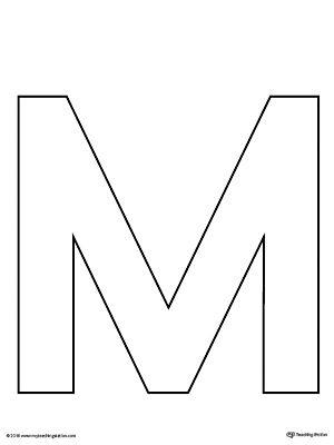 Uppercase Letter M Template Printable Letter Writing Template Letter M Crafts Printable Alphabet Letters