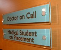 medical office door signs, medical personalized office door name