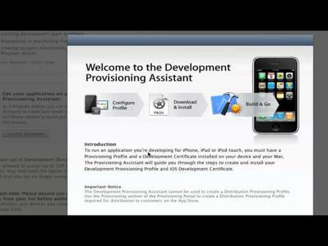 Setting Up Your IOS Developer Profile app - tutorials - ios developer resume