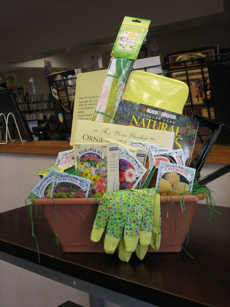 Spring Gardening Basket for silent auction class school