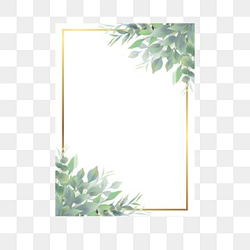 Watercolor Leaf Frame And Golden Border Frame Wedding Frame Flower Png And Vector With Transparent Background For Free Download In 2021 Watercolor Leaves Watercolor Flowers Pattern Flower Frame