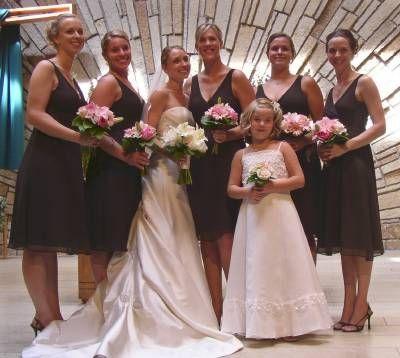 Wedding Flowers Pink Dress Brown Bridesmaids Photo Ideas Pinterest