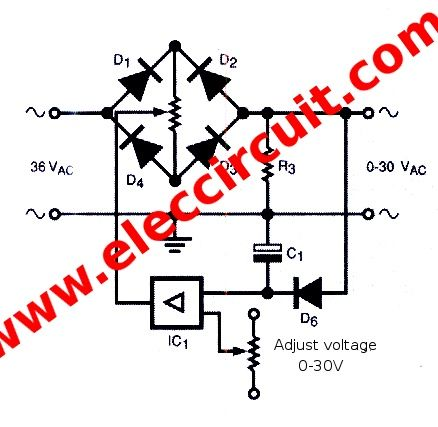 Ac Variable Power Supply Circuit With Pcb 0 30v 3a Power Supply Power Power Supply Circuit