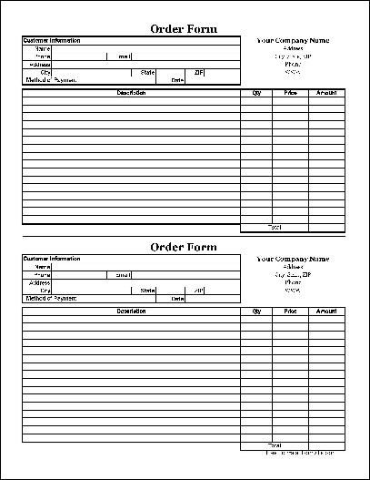 Purchase Order Form Template with Favorite Products List thumb 1 - product order form template