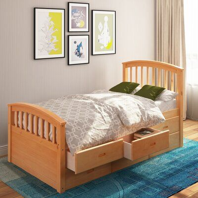Harriet Bee Lowndesboro Twin Platform Bed With Drawers Bed Frame