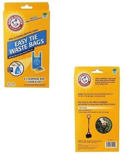 Arm /& Hammer 71041 Easy-Tie Waste Bags Blue 75-Pack