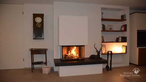 Durchsicht Heizkamin Gamlitz #fireplace #gamlitz Öfen, Kamine - wohnzimmer gemutlich kamin