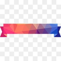 Colorful Abstract Geometric Banner In 2020 Ribbon Png Geometric