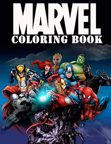 Download Pdf Marvel Coloring Book Super Heroes Avangers Spiderman Captain America Deadpool Venom Thor Hulk Black Panther Iron Man And Etc Coloring Pages Ages