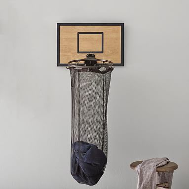 Basketball Hoop Over The Door Hamper In 2020 Basketball Themed