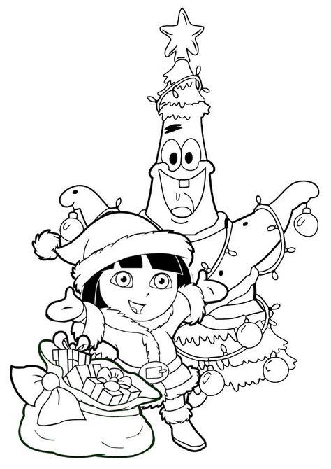 Coloriage Noel Dora Christmas Coloring Page Coloriage Noel