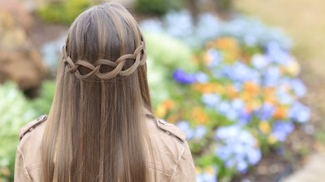Loop Waterfall Braid.  #hairstyles #hairstyle #waterfallbraid #briad #cutegirlshairstyles