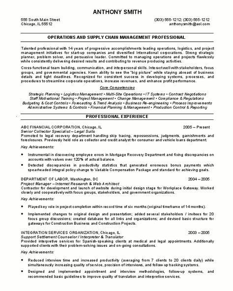 senior logistic management resume Senior Manager Supply Chain - supply chain resumes