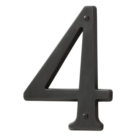Baldwin 90674 Solid Brass Residential House Number 4 Oil Rubbed Bronze Home Accents Address Numbers 4 House Numbers Traditional House Numbers House Letters