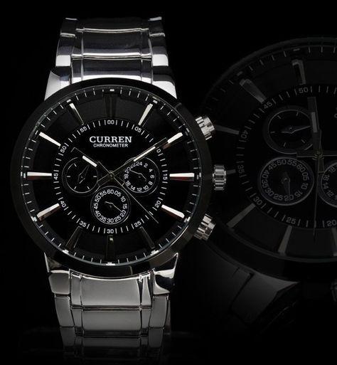 Stylové pánské hodinky Curren BLACK STEEL černé Na tento produkt se  vztahuje nejen zajímavá sleva 1824ba83e7d