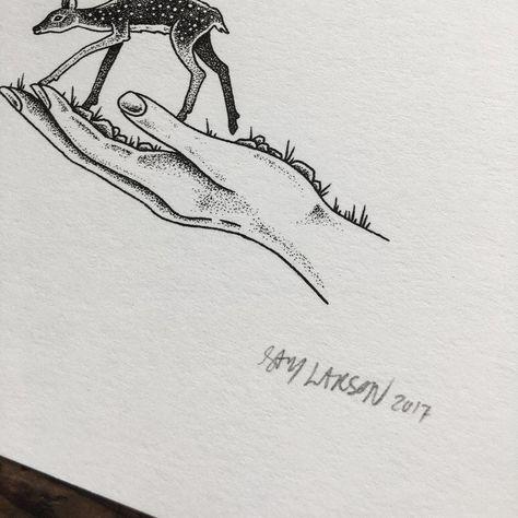 Resultado de imagen para how to make landscape miniature pen drawings nature