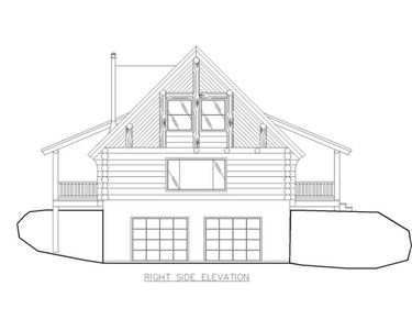Home Plan 001 1035 Right Side Elevation House Plans House Design Log Homes