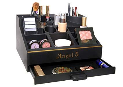 New Exclusive Black Makeup Organizer By Angel 5 Cosmetic Storage Drawer Jewelry All In One Mad Black Makeup Organiser Makeup Organization Cosmetic Storage