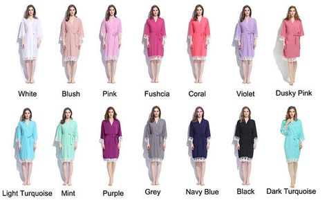 CUSTOMIZATION AVAILABLE! Bridesmaid Cotton Lace Robes! Perfect for ... 9c8c18f97