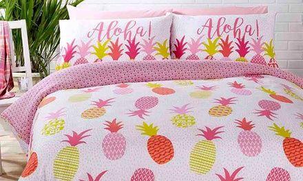Rapport Pineapples Duvet Cover Sets Reversible Single//Double//King Size
