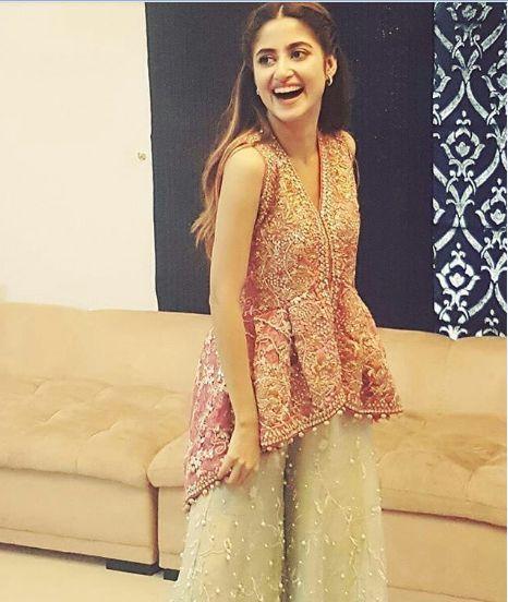 sajal ali fancy dress