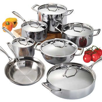 Tramontina 14 Piece Tri Ply Clad Stainless Steel Cookware Set Cookware Set Cookware Set Stainless Steel Induction Cookware
