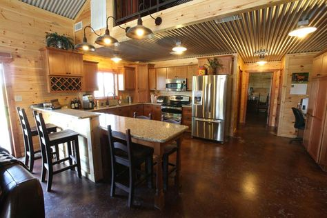 metal building with living quarters - Google Search. Need more light and countertops... And maybe taller ceilings.