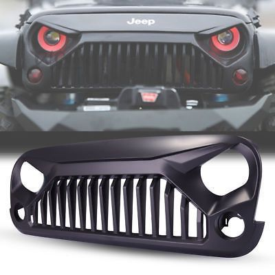Black Front Gladiator Grille For 2007 2017 Jeep Wrangler Jk Unlimited Rubicon Bla Jeep Wrangler Accessories 2017 Jeep Wrangler Jeep Wrangler