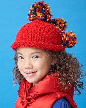 Bernat Softee Chunky - Pompom Beanie (free knitting pattern)