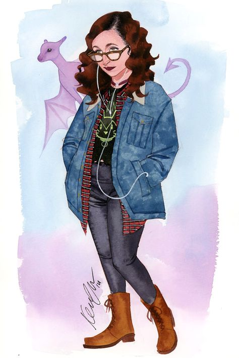 Kitty Pryde and Lockheed by Kevin Wada *