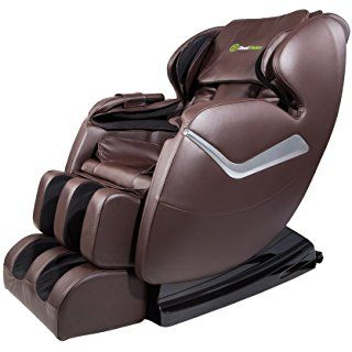 Real Relax Massage Chair Recliner Full Body Shiatsu Zero Gravity Armrest Linkage System With Heater Brown Massage Chair Shiatsu Massage Chair