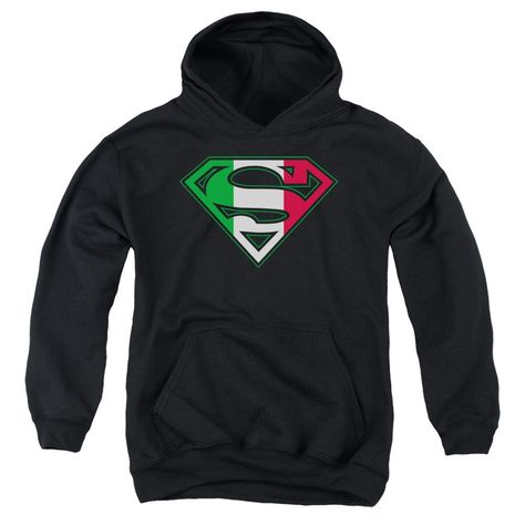 Sons of Gotham Superman Italian Shield Adult Pull-Over Hoodie
