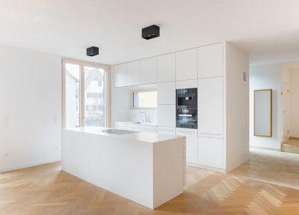 Deckenhohe Küchenschränke Weiß Ohne Griffe | Küche | Pinterest