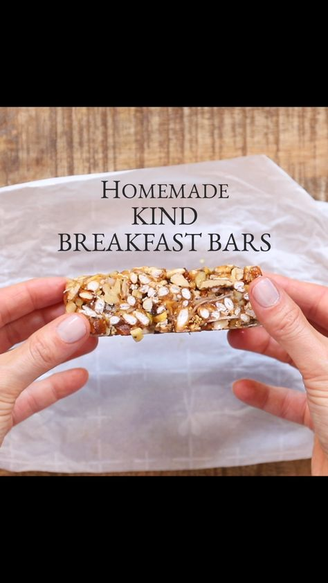 Homemade Kind Breakfast Bars
