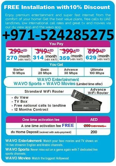 High Speed Du Wifi Home Internet Packages Free Installation And 10 Monthly Discount Free Install Home Internet Free Tv Channels View App