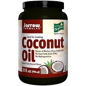 Jarrow Formulas 認定された有機ココナッツオイル 圧搾プレス 32 Oz 908 G Cooking With Coconut Oil Organic Coconut Organic Coconut Oil