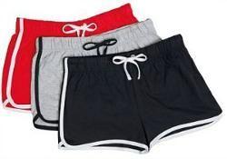44bcf251b3 Women s Retro 80s Gym Shorts (Dolphin Shorts) with cord drawstring