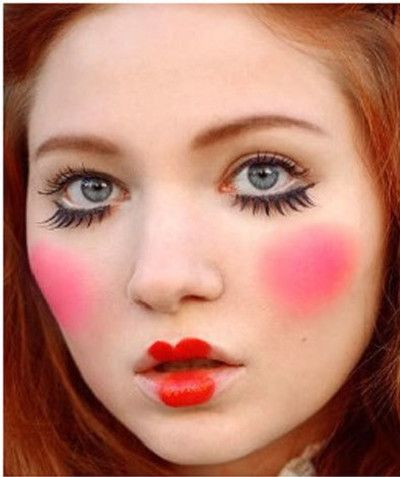 Doll Face - Halloween Costumes You Can Make With Just Makeup - Photos